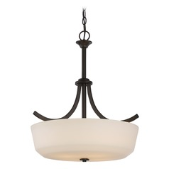 Nuvo Lighting Laguna Aged Bronze Pendant Light with Bowl / Dome Shade