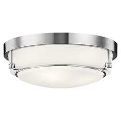Transitional Flushmount Light Chrome Belmont by Kichler Lighting