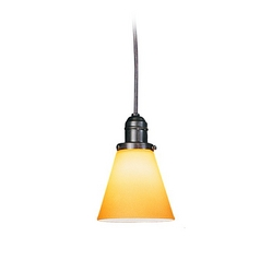 Hudson Valley Lighting Mini-Pendant Light with Amber Glass 3102-OB-505A
