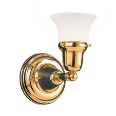 Hudson Valley Lighting Bathroom Light with White Glass in Satin Nickel Finish 581-SN-341