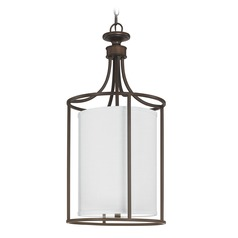 Capital Lighting Midtown Burnished Bronze Pendant Light with Cylindrical Shade