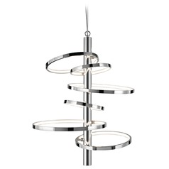 Elan Lighting Sirkus Chrome LED Pendant Light