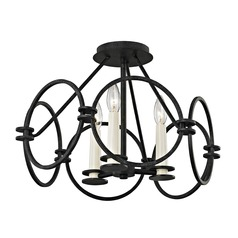 Troy Lighting Juliette Country Iron Semi-Flushmount Light