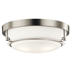 Transitional Flushmount Light Brushed Nickel Belmont by Kichler Lighting
