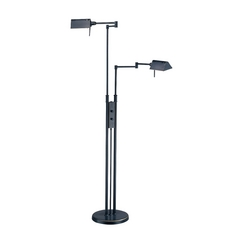 Modern Pharmacy Lamp in Dark Bronze Finish