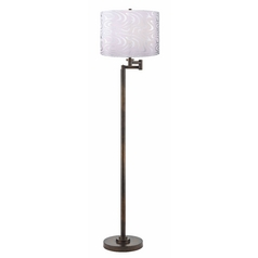 Design Classics Lighting Modern Swing Arm Lamp with Silver Shade in Bronze Finish 1901-1-604 SH9497