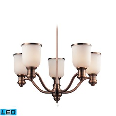 Elk Lighting Brooksdale Antique Copper LED Chandelier