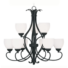Livex Lighting Brookside Black Chandelier