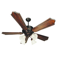 Craftmade Lighting Townsend Oiled Bronze Ceiling Fan with Light