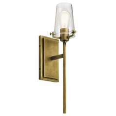 Seeded Glass Sconce Brass Kichler Lighting