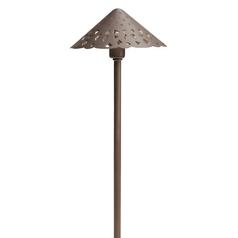 Kichler LED Path Light in Bronzed Brass Finish