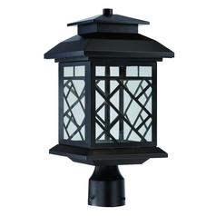 LED Post Light with Clear Glass in Oil Rubbed Bronze Finish