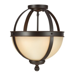 Sea Gull Lighting Sfera Autumn Bronze Semi-Flushmount Light