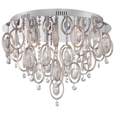 Quoizel Platinum Collection Ella Polished Chrome Flushmount Light