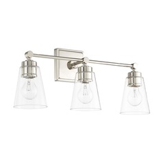 Capital Lighting Polished Nickel Bathroom Light