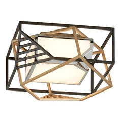 Troy Lighting Cubist Bronze / Gold Leaf LED Flushmount Light