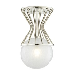 Mitzi Petra Polished Nickel Semi-Flushmount Light