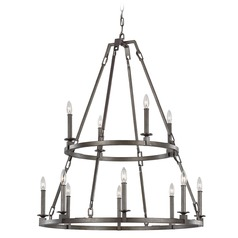 Feiss Lighting Landen Smith Steel Chandelier