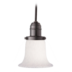 Hudson Valley Lighting Mini-Pendant Light with White Glass 3102-OB-7200