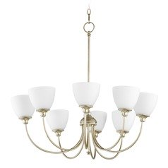Quorum Lighting Celeste Aged Silver Leaf Chandelier