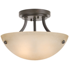 Design Classics Lighting Two-Light Semi-Flush Ceiling Light 2735-34