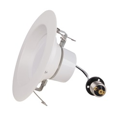 LED Retrofit White ReflectorTrim for 6-Inch Recessed Cans