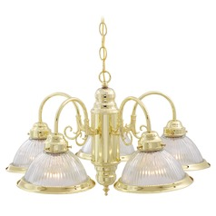 Nuvo Lighting Polished Brass Chandelier