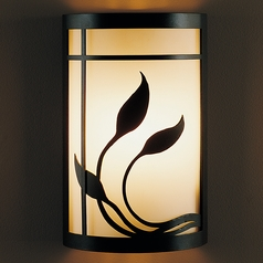 Hubbardton Forge Lighting Byron's Leaves Mahogany Sconce
