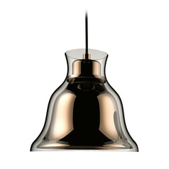 Alico Lighting Bolero Gold Mini-Pendant Light with Bell Shade