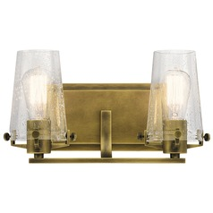 Kichler Lighting Alton Natural Brass Bathroom Light