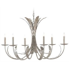 Currey and Company Bunny Williams Silver Granello Chandelier