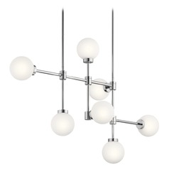 Mid-Century Modern Chandelier Chrome Aura by Kichler Lighting