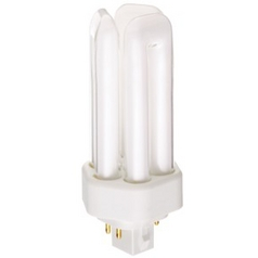 18-Watt Triple Tube Compact Fluorescent Light Bulb with G24Q-14 Base