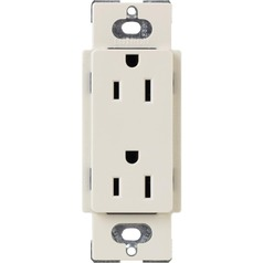 Lutron Light Almond Recessed Outlet