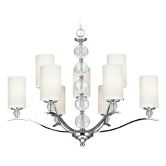 Sea Gull Lighting Englehorn Chrome / Optic Crystal Chandelier