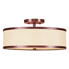 Livex Lighting Park Ridge Vintage Bronze Semi-Flushmount Light