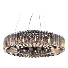 Plc Lighting Marquee Polished Chrome Pendant Light with Drum Shade