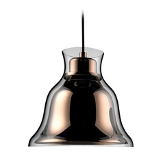 Alico Lighting Bolero Copper Mini-Pendant Light with Bell Shade