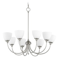Quorum Lighting Celeste Satin Nickel Chandelier