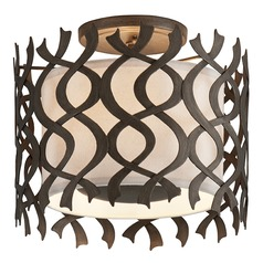 Troy Lighting Mai Tai Cottage Bronze Semi-Flushmount Light
