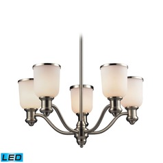 Elk Lighting Brooksdale Satin Nickel LED Chandelier