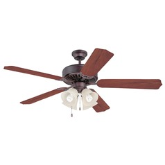Craftmade Pro Builder 204 Oiled Bronze Ceiling Fan with Light
