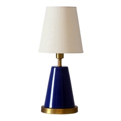 House Of Troy Geo Navy Blue with Weathered Brass Accents Accent Lamp