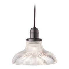 Hudson Valley Lighting Mini-Pendant Light with Clear Glass 3102-OB-R08