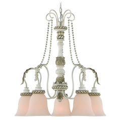 Craftmade Zoe Antique Linen Chandelier