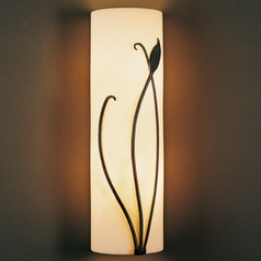 Hubbardton Forge Lighting Leaf Natural Iron Sconce