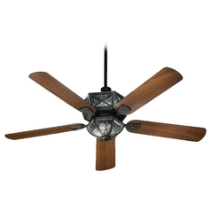 Quorum Lighting Auburn Old World Ceiling Fan with Light