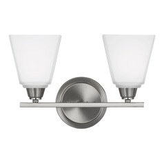 Sea Gull Lighting Parkfield Brushed Nickel Bathroom Light