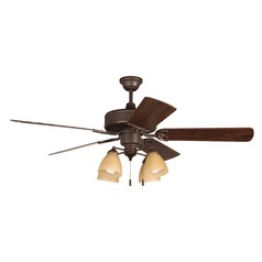 Craftmade Lighting American Tradition Oiled Bronze Ceiling Fan with Light