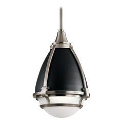 Industrial Pendant Light Pewter Ayra by Kichler Lighting